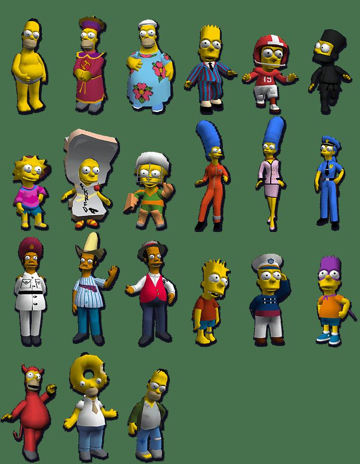 Vestuarios The Simpsons hit and run